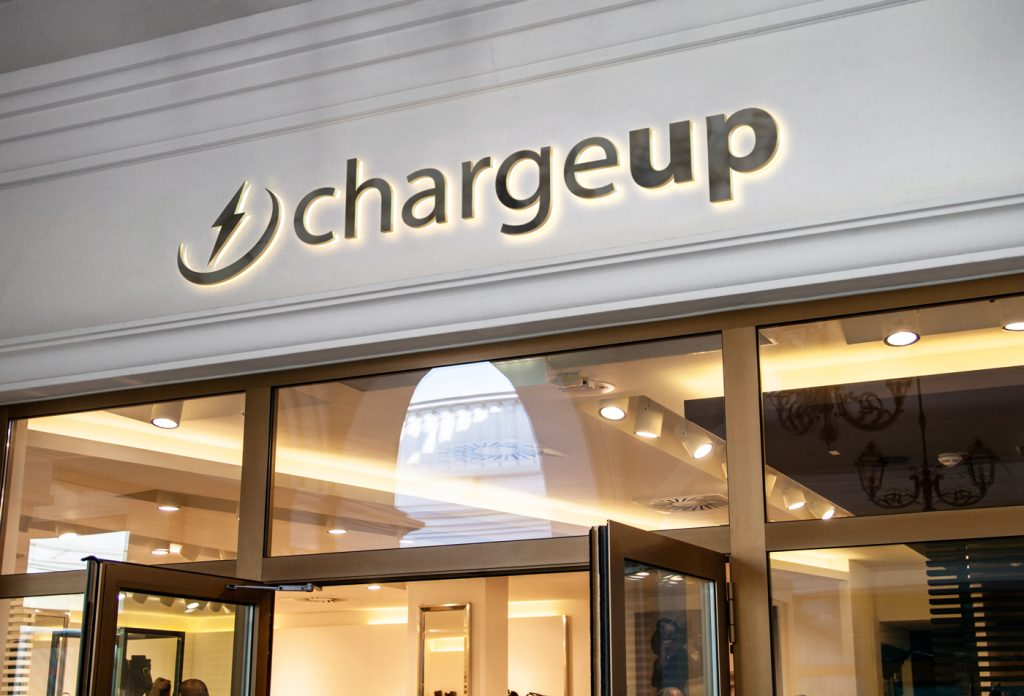 ChargeUp App - Store Sign